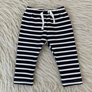 Baby GAP navy white stripe soft pant stretch 0-3 m